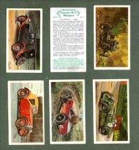 Tobacco Cigarette cards  Motor Cars set Famous M.G .Marques, Sports Cars